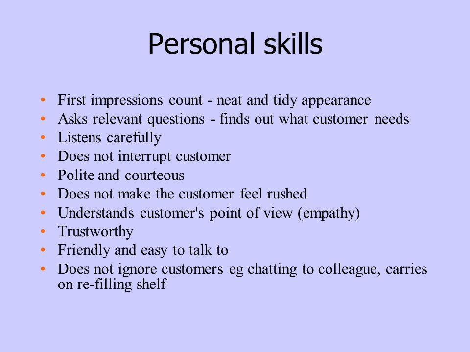skills relevant to retail