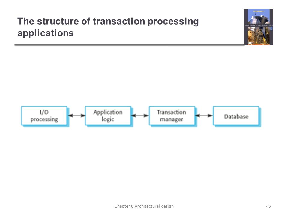 43 The Structure Of Transaction Processing Applications 43Chapter 6  Architectural Design
