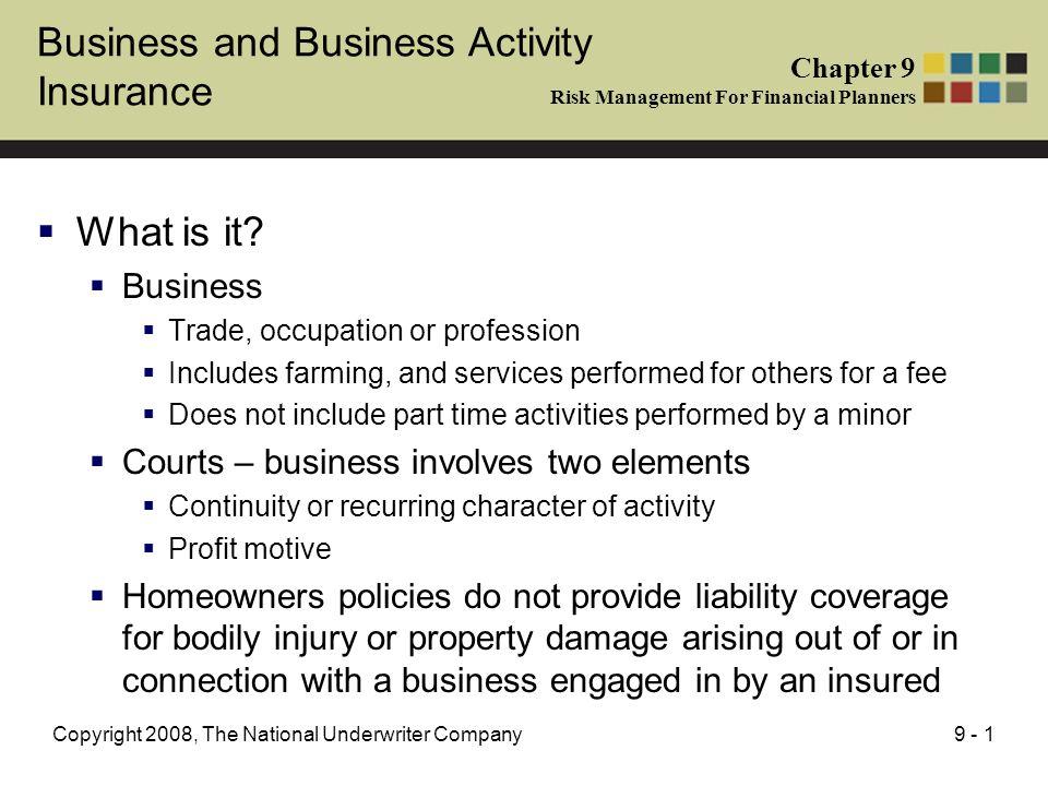 profit management and business activity