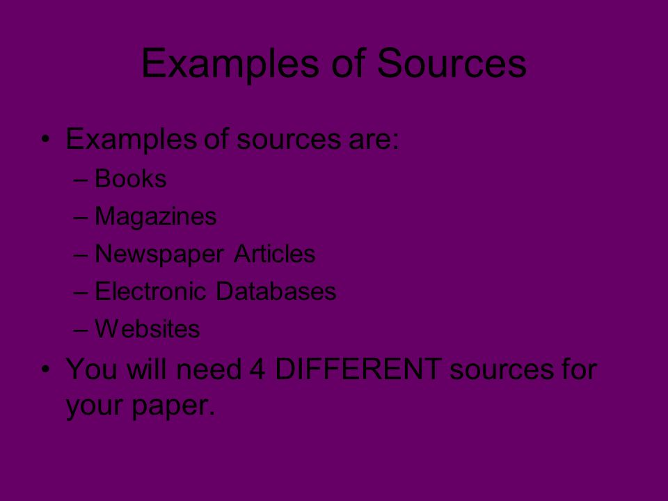 Biography research paper example