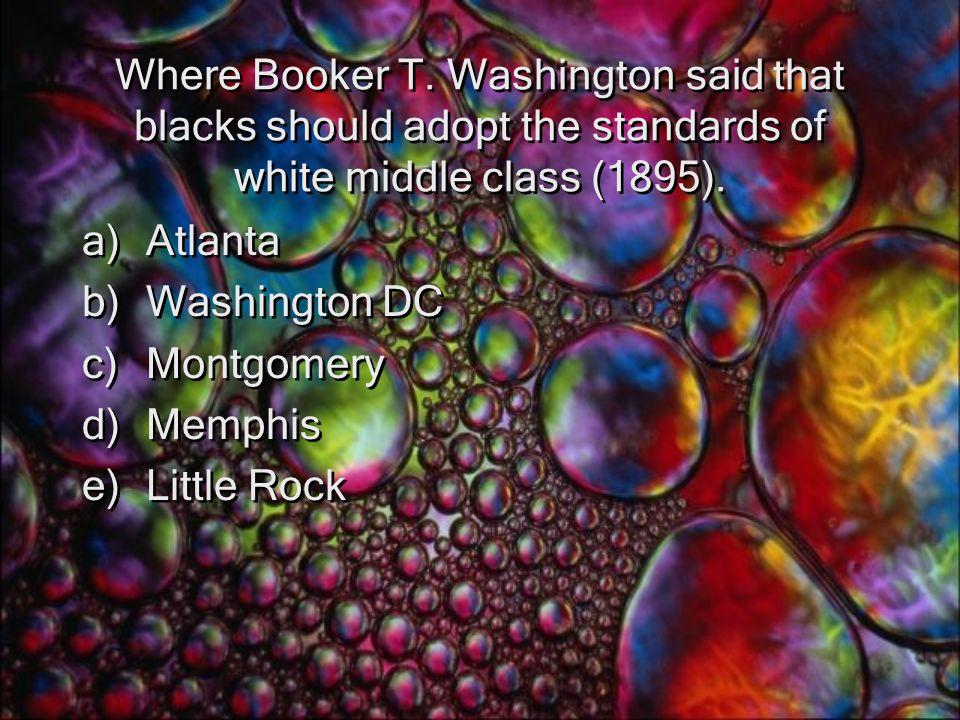 Where Booker T.