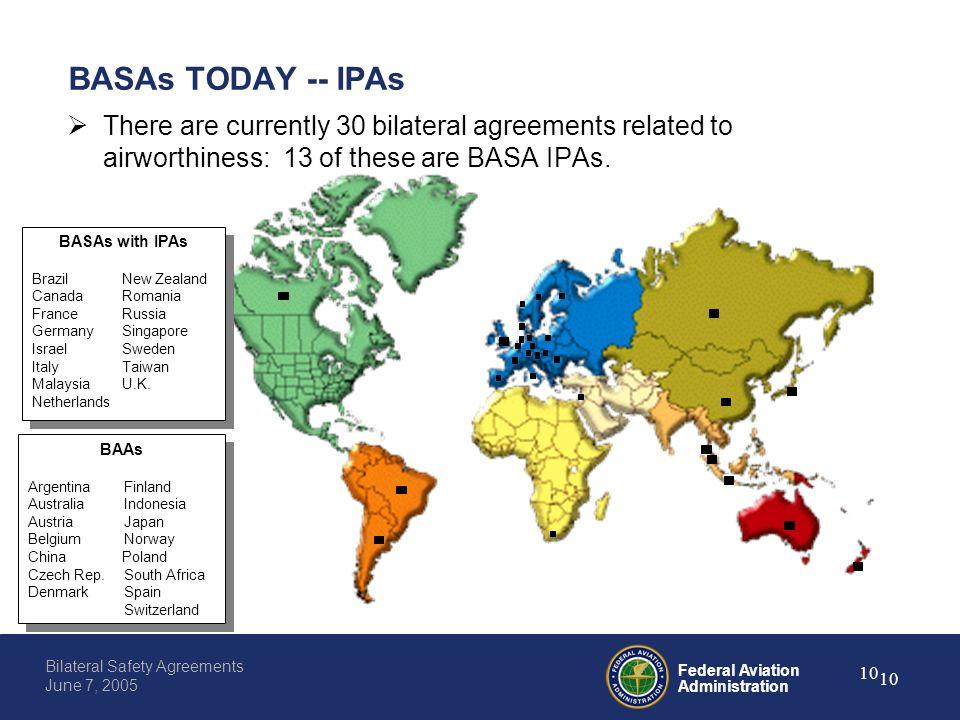 Federal aviation administration 0 bilateral safety agreements june federal aviation administration 10 bilateral safety agreements june 7 2005 10 basas today platinumwayz