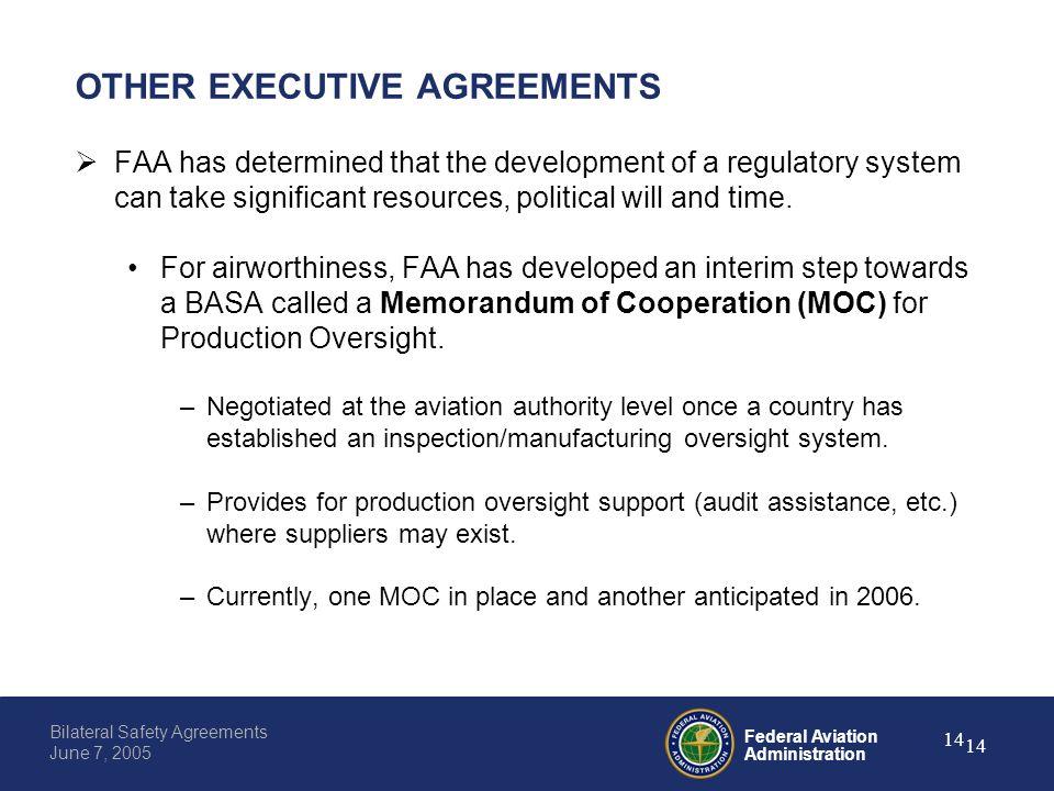 Federal aviation administration 0 bilateral safety agreements june federal aviation administration 14 bilateral safety agreements june 7 2005 14 other executive agreements platinumwayz