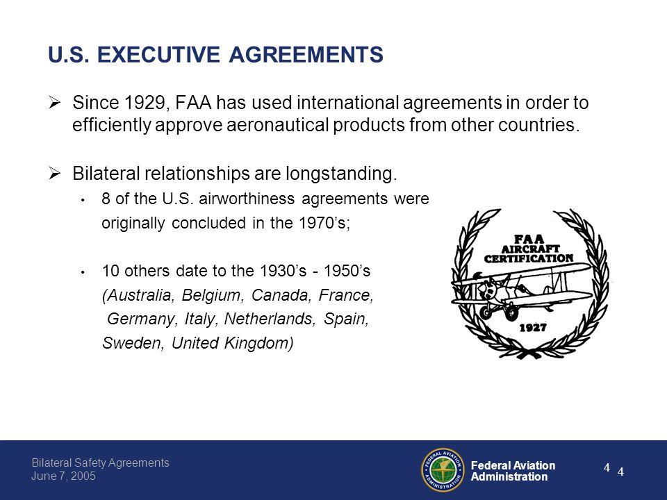 Federal aviation administration 0 bilateral safety agreements june federal aviation administration 4 bilateral safety agreements june 7 2005 4 us platinumwayz
