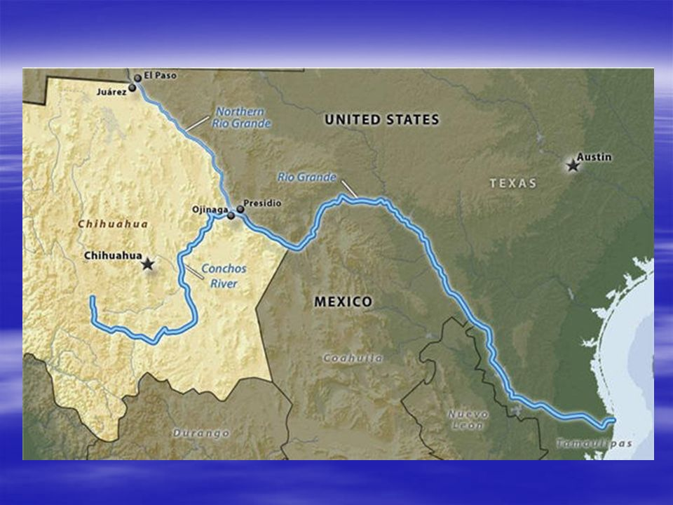 TEXAS RIVERS RIO GRANDE Separates Texas And Mexico Nd - Longest river in the us map