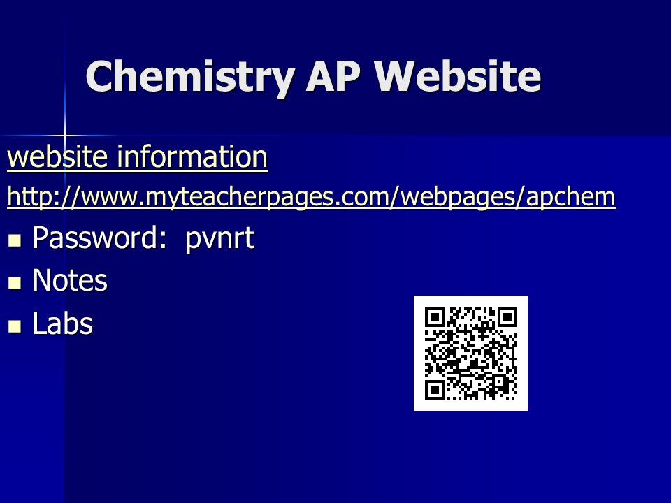 ap chemistry notes