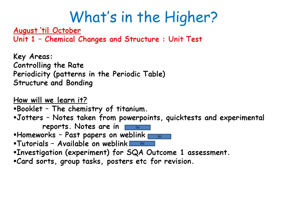 august til october unit 1 chemical changes and structure unit test key areas - Periodic Table Unit Test