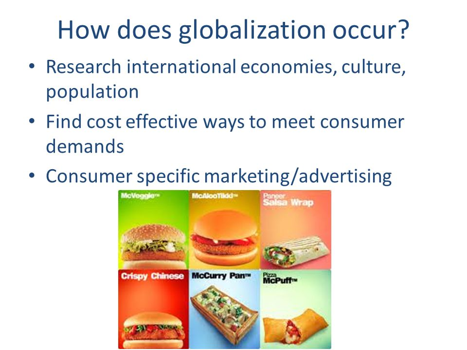 how does globalization impact consumers Concern over the treatment of consumers by large of globalization, as it does not always globalization has a huge impact on baseball and.