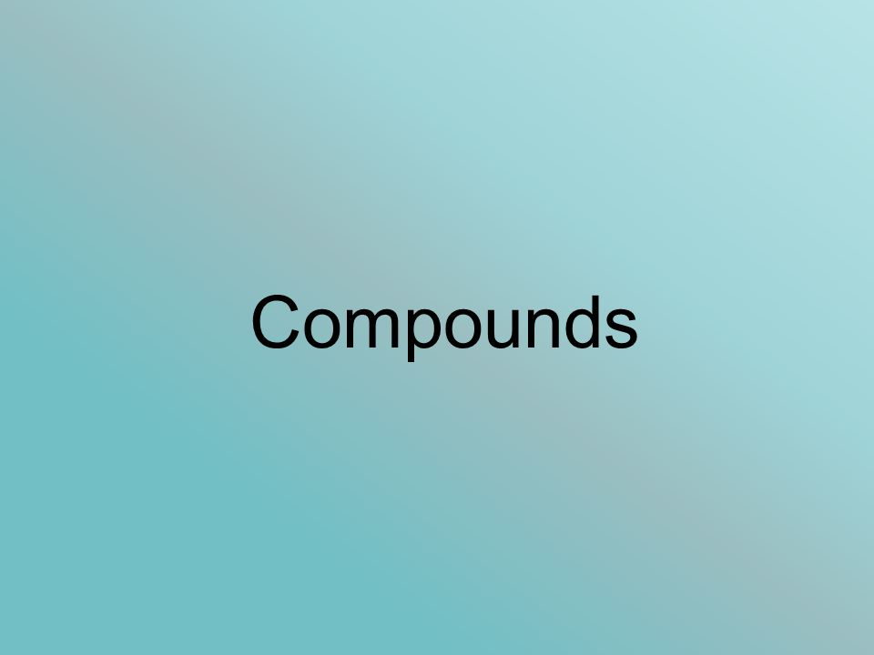 Compounds. Which Elements form Ionic Bonds? The central idea (for ...