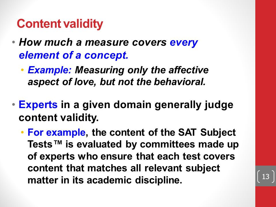 Content Validity Example In Other Words The Teachers Spent Almost
