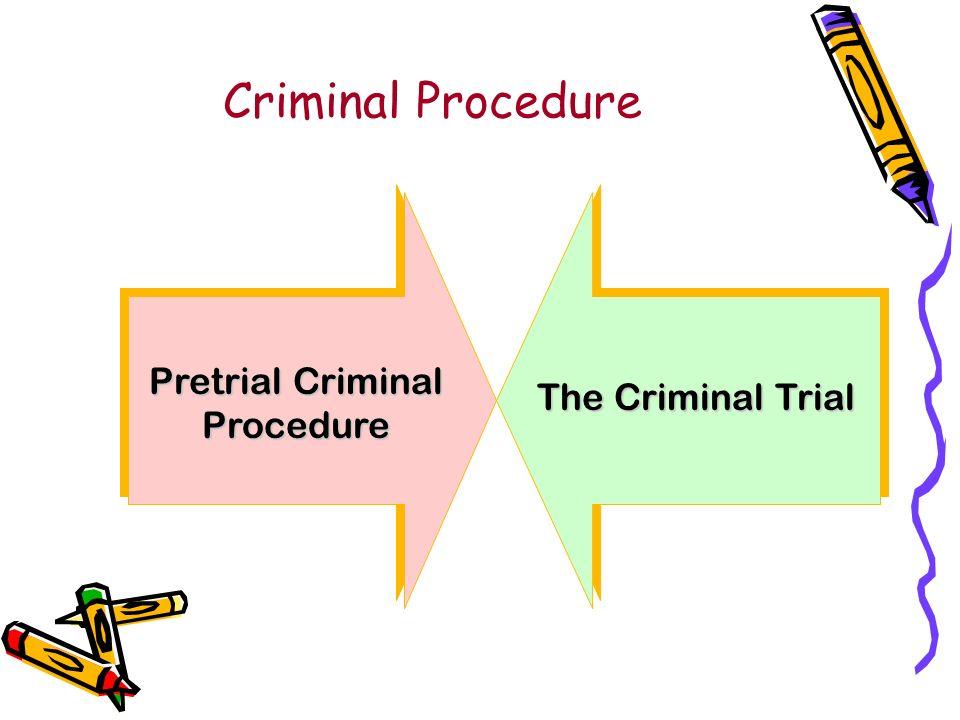 Criminal Procedure Pretrial Criminal Procedure The Criminal Trial