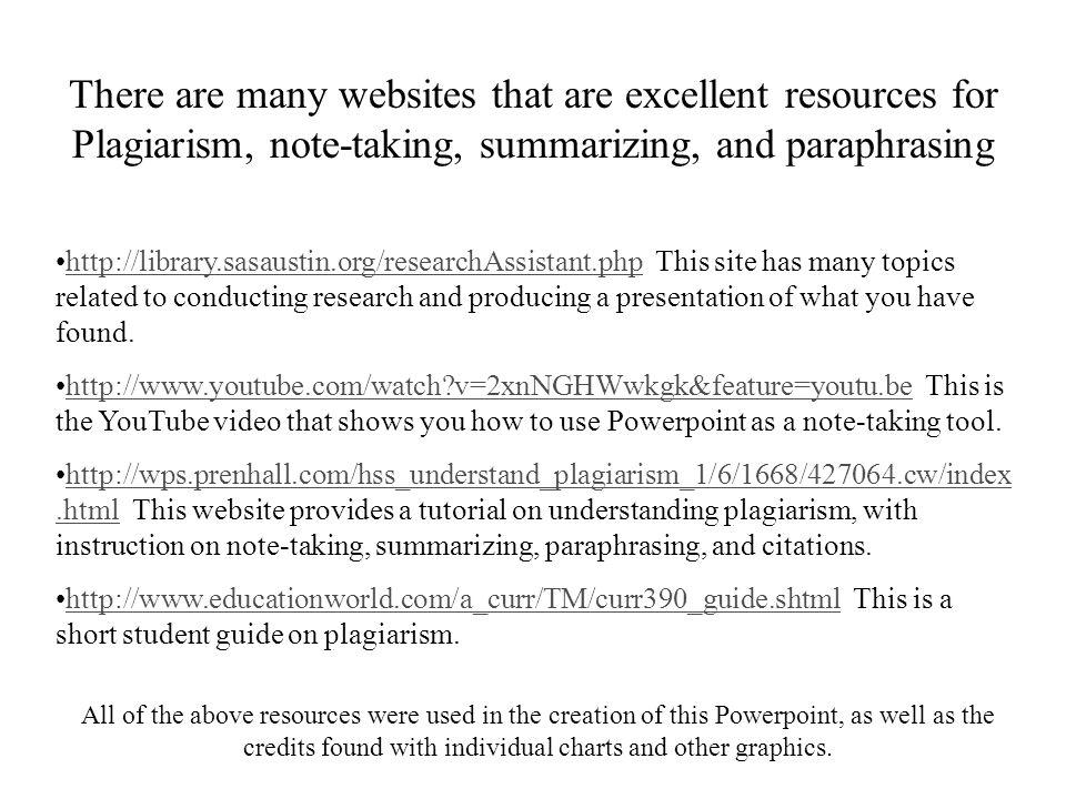 Summarizing websites