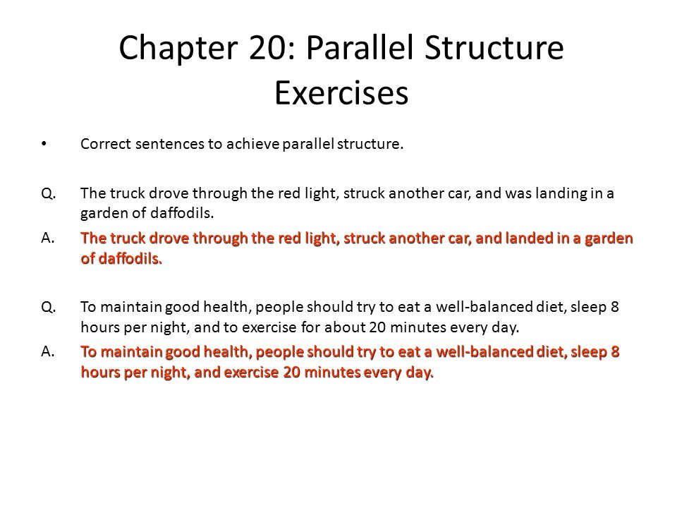 Parallel Structure Practice Worksheet – Parallel Structure Worksheet