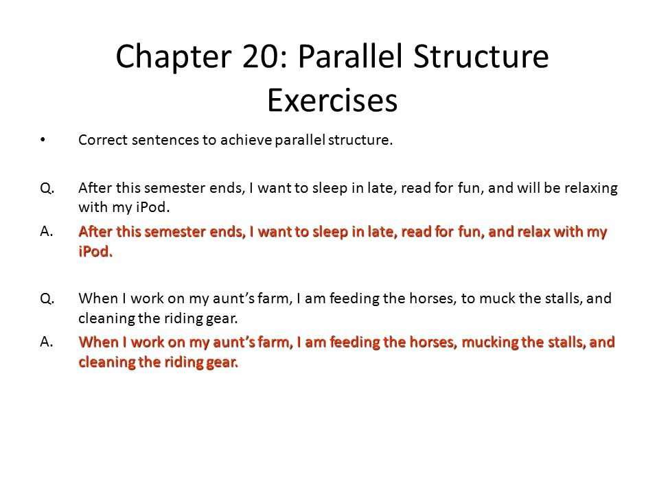 Printables Parallel Structure Worksheet parallel structure practice worksheet versaldobip sentence davezan