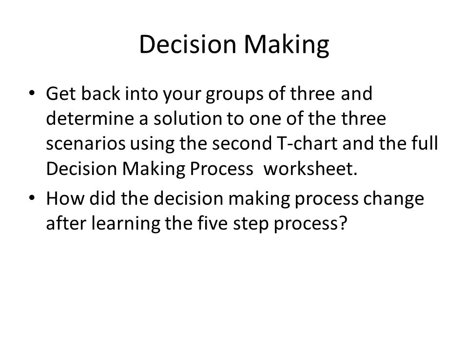 the decision making process how communication Buyer decision process that you have a need for communication or access to process and that teams of individuals contribute to the decision-making process.