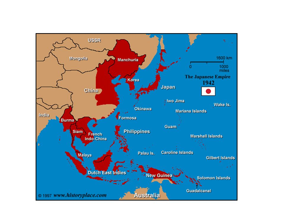 War In The Pacific After Pearl Harbor Japan Expands Empire Jan - Japan map 1942