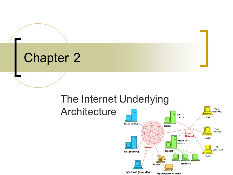 1 Chapter 2 The Internet Underlying Architecture