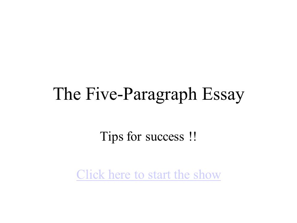 essay success all about eve sample essay year vce english  the five paragraph essay tips for success click here to start 1 the five paragraph essay