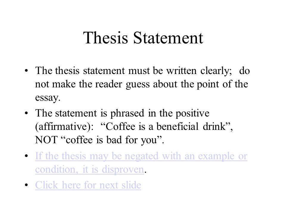 How To Write A Proposal For An Essay  Thesis Statement The Thesis Statement Must  Short Essays In English also Example Of Thesis Statement For Essay The Fiveparagraph Essay Tips For Success  Click Here To Start  Essay Topics For High School English