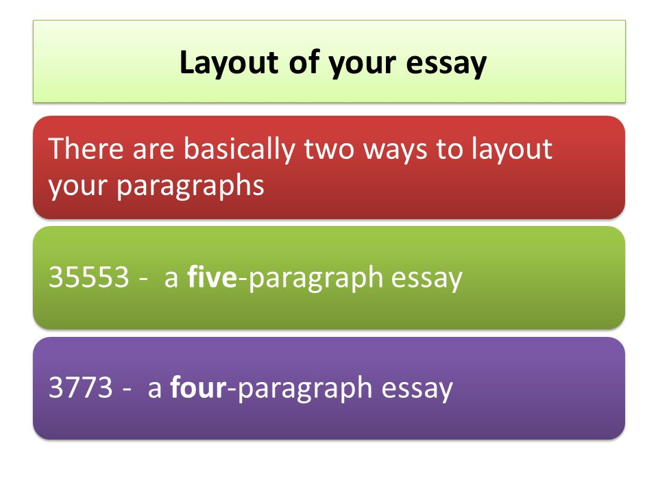 layout of your essay there are basically two ways to layout your  1 layout of your essay there are basically two ways to layout your paragraphs 35553 a five paragraph essay3773 a four paragraph essay