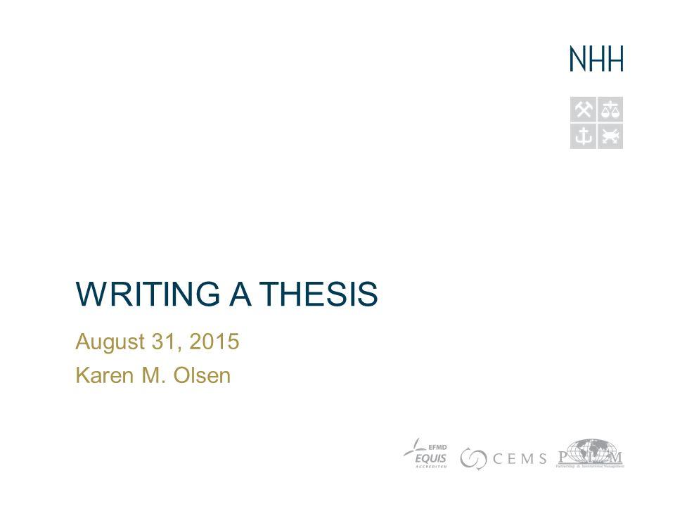 Publishing msc thesis