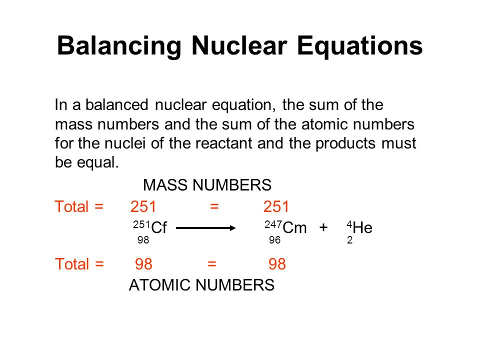 What Is A Nuclear Equation - Jennarocca