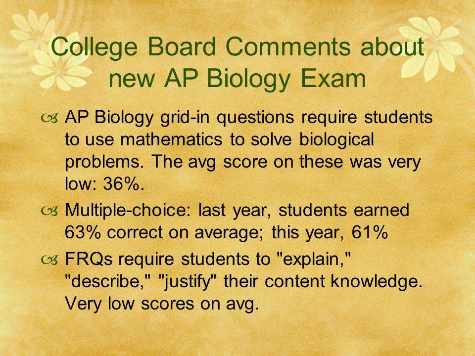ap biology essay rubrics 2001