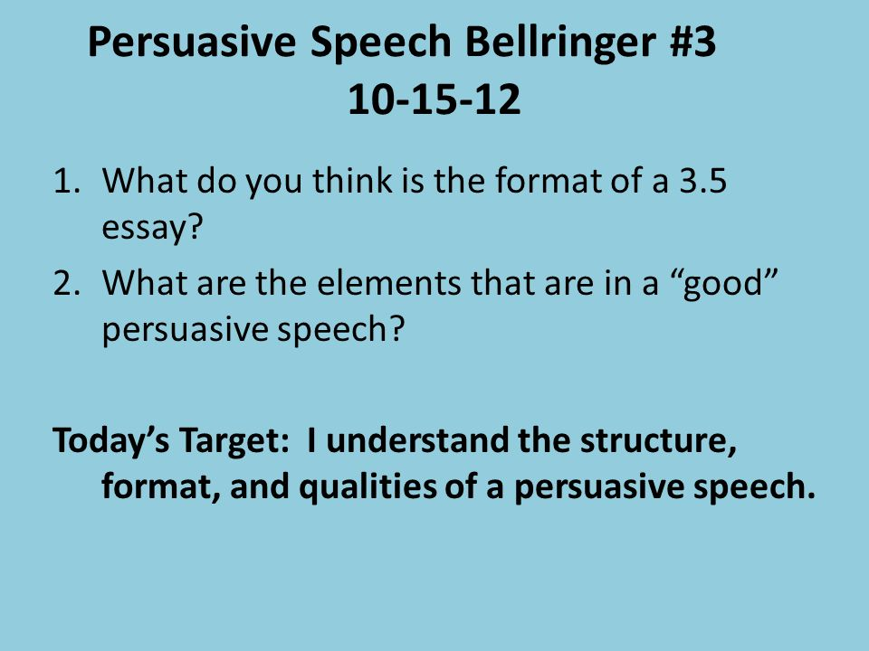global warming a persuasive speech Global warming if you are in need of a persuasive speech for school, college or work, here is an example of a persuasive speech it is a very informative speech, butthis.