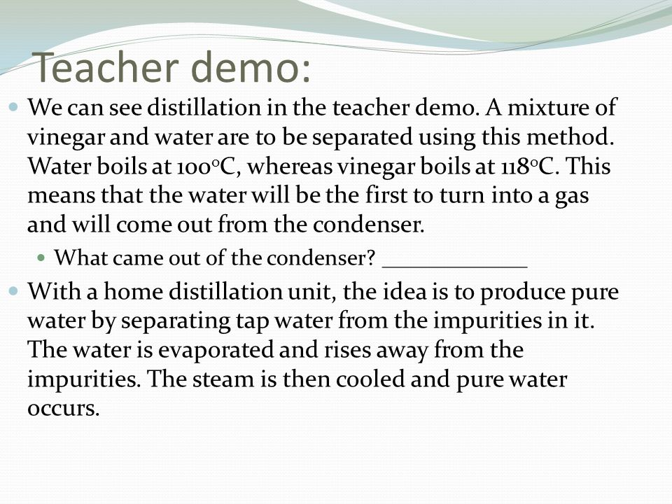 Teacher demo: We can see distillation in the teacher demo.