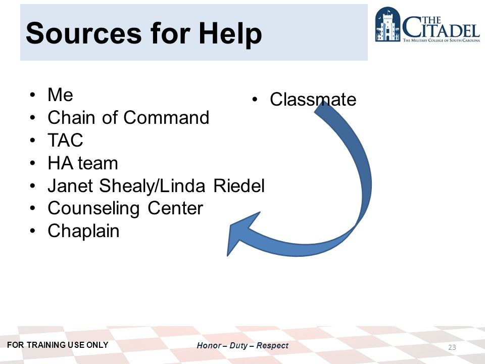 respect chain of command
