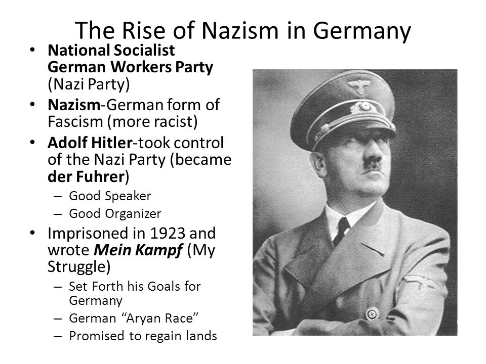 WWII. The Rise of Fascism Fascism-political movement – Loyalty to ...