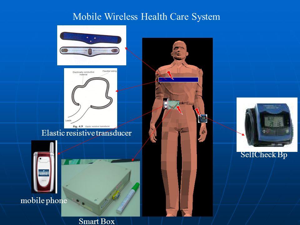 SelfCheck Bp Smart Box Vital Belt Elastic resistive transducer mobile phone Mobile Wireless Health Care System