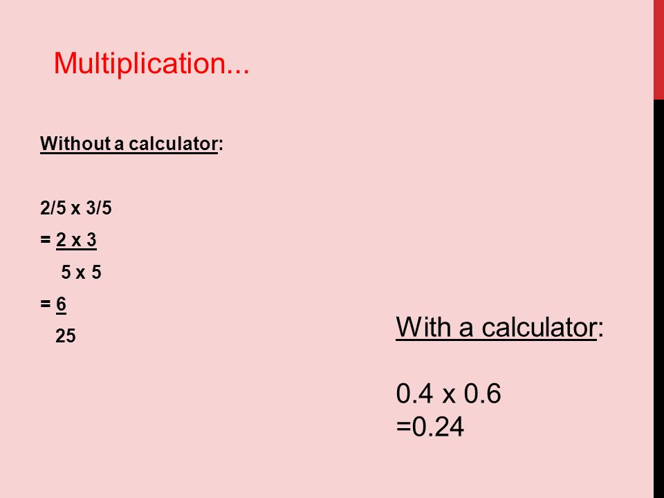 math worksheet : operations using fractions 1 add subtract multiply and ide  : How To Multiply Without A Calculator