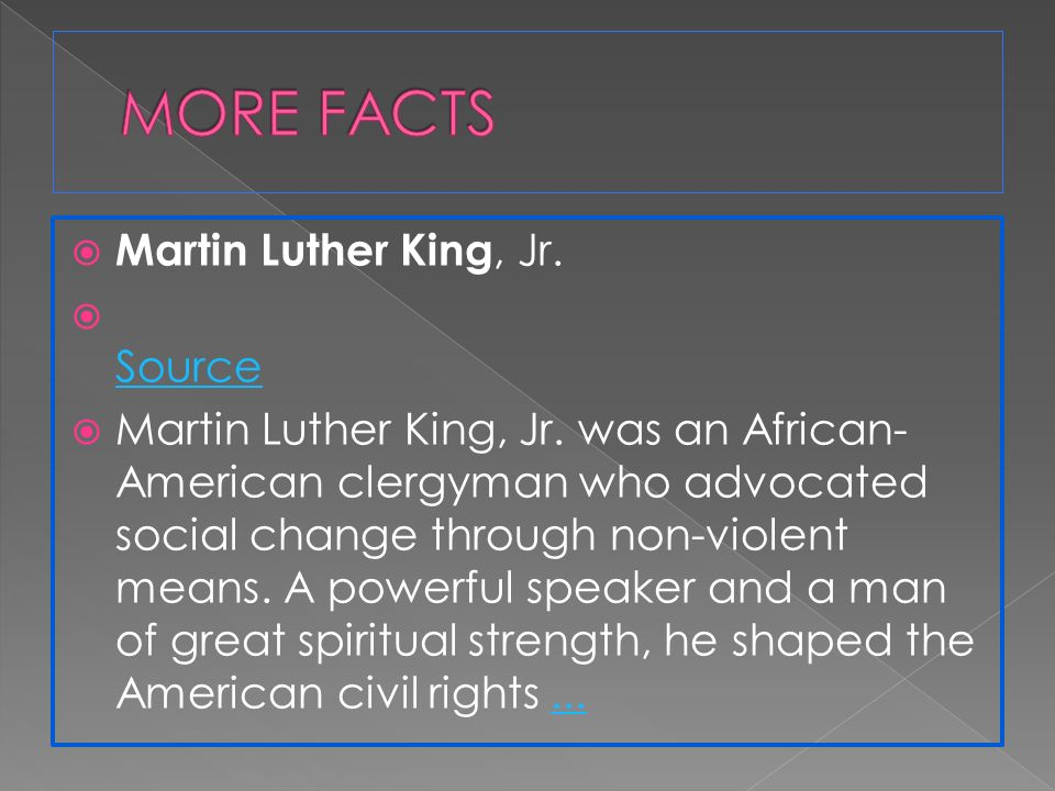 martin luther king jr an advocate of non violent social change Champions of human rights martin luther king, jr (1929–1968) martin luther king, jr, was one of the twentieth century's best-known advocates for nonviolent social change.