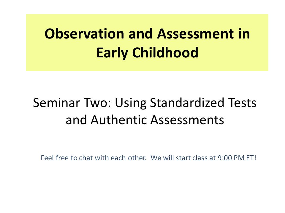 classroom assessment early childhood