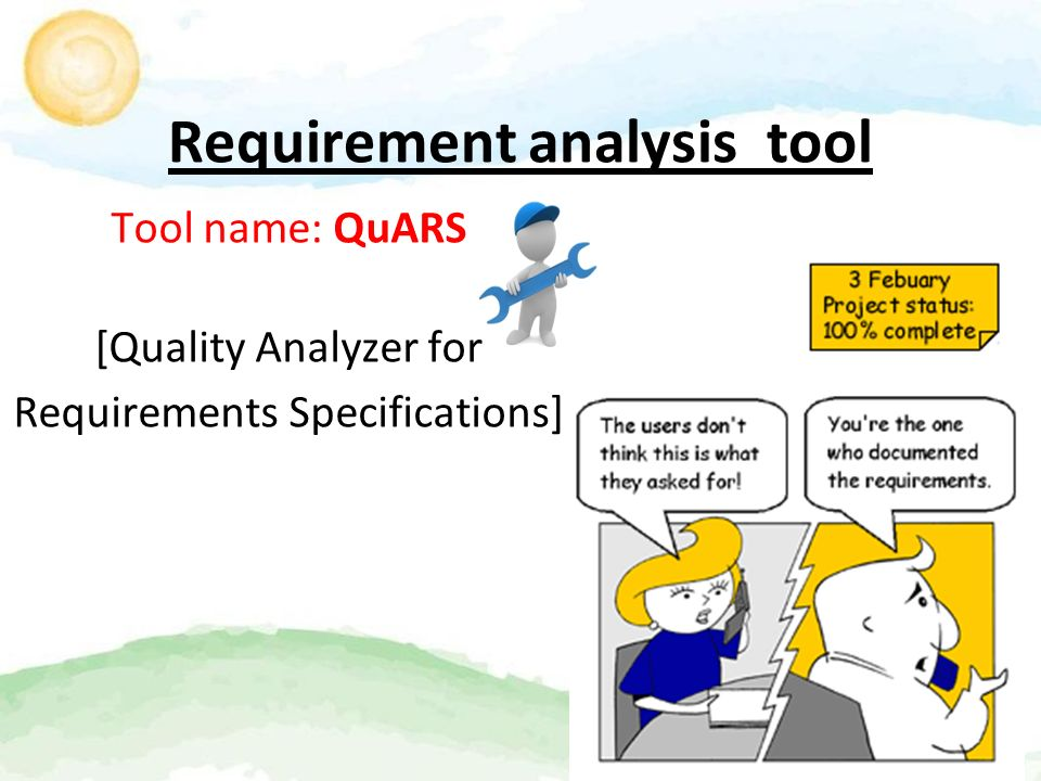 Tools Used In Requirement Analysis, Planning And Estimation Tejesh