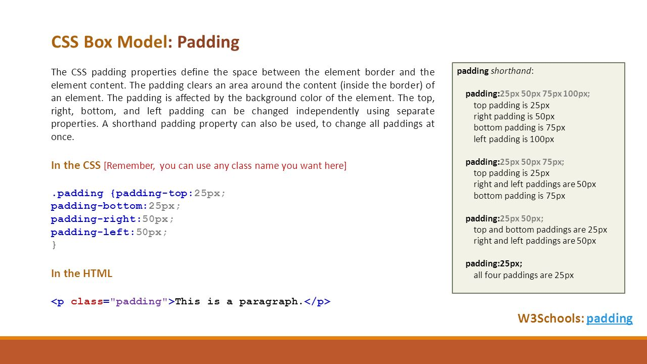 Web colors w3schools - Css Box Model Padding W3schools Paddingpadding The Css Padding Properties Define The Space Between