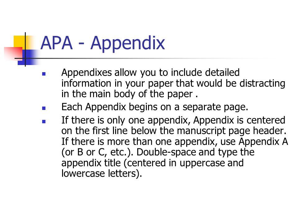 apa main body example