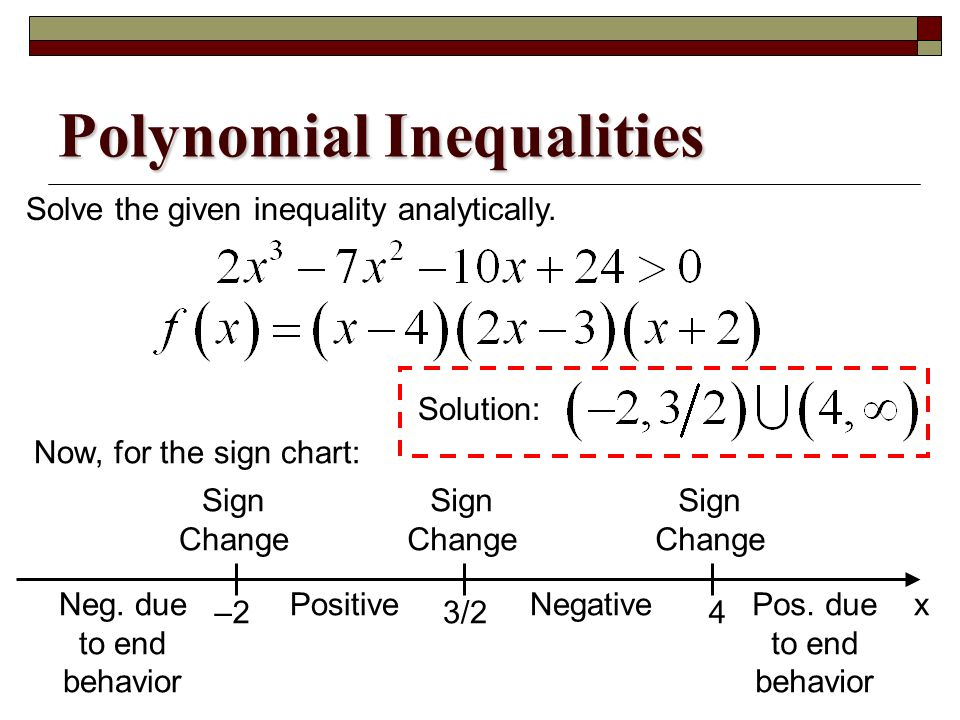 inequality - How does one construct a 'sign chart' when solving ...