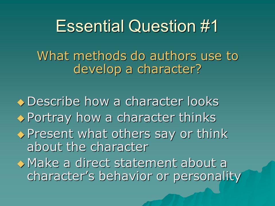 Literary Characterization