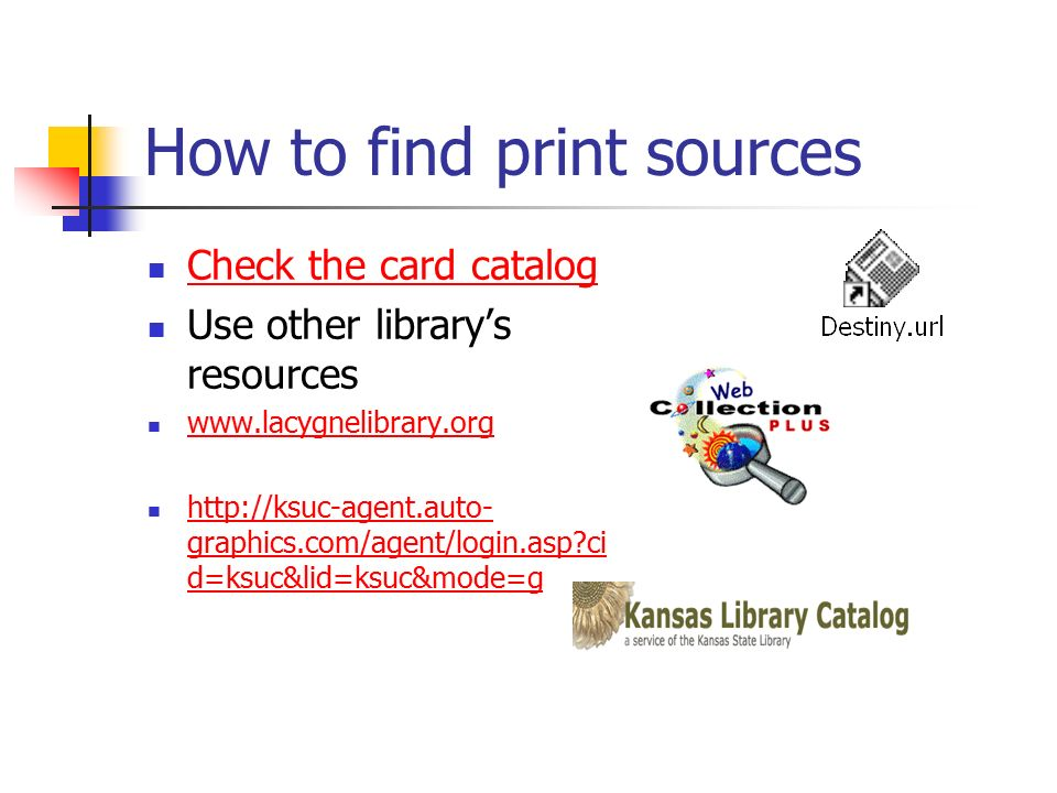 finding resources for research papers