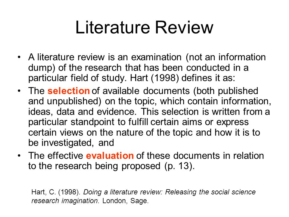 How To Write Literature Review In Research