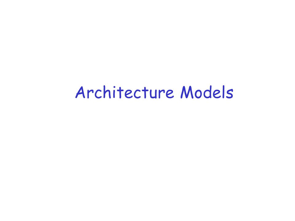 architecture models readings r coulouris dollimore and kindberg