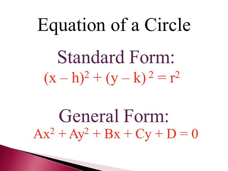 Circle Equation General Form - Jennarocca