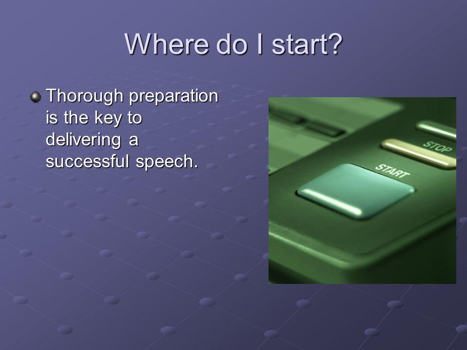 How do u write a speech