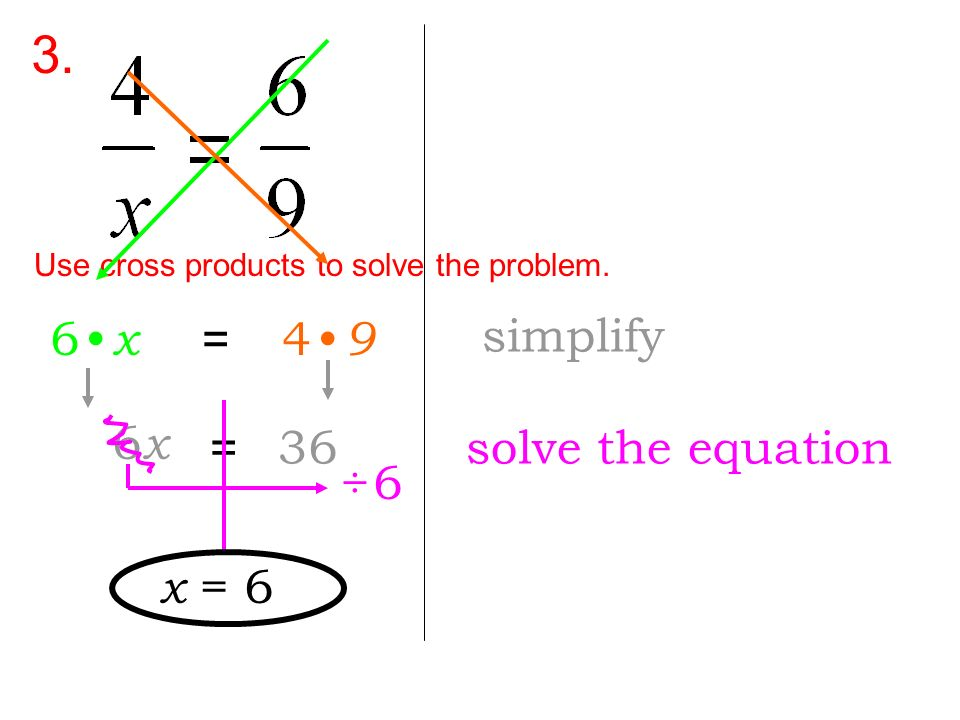 3. Use cross products to solve the problem.