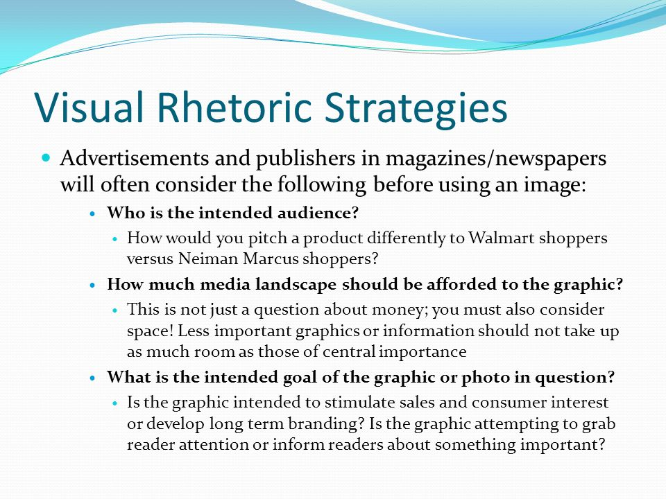 unit overview week intro to informative writing  5 visual rhetoric strategies