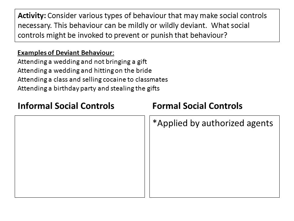 do other forms of social control exist aside from the threat of legal punishment what else controls  Forms of social control exist aside from the threat of punishment what controls your behavior.