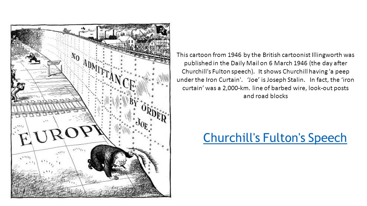 Iron curtain cartoon - This Cartoon From 1946 By The British Cartoonist Illingworth Was Published In The Daily Mail On