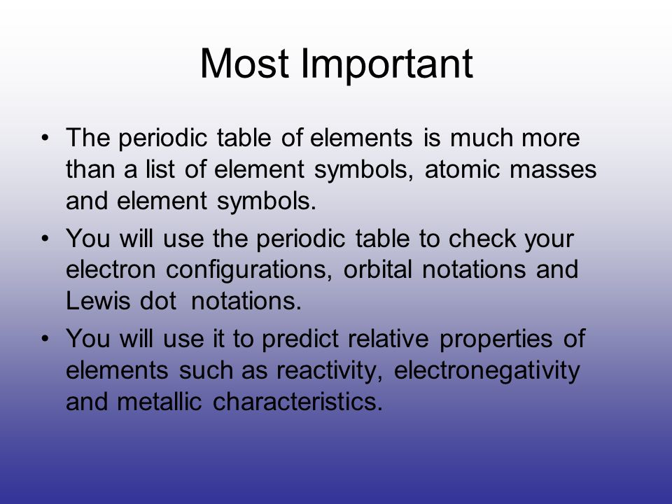 The Periodic Table Element Groups Most Important The Periodic Table